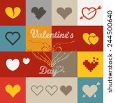 different abstract heart icons... | Shutterstock .eps vector #244500640