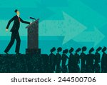 public speaker a businessman...   Shutterstock .eps vector #244500706
