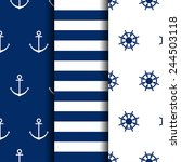set of marine backgrounds | Shutterstock .eps vector #244503118