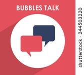 bubbles talk design  vector...   Shutterstock .eps vector #244503220