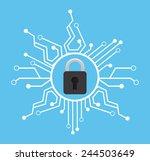 security icon design  vector... | Shutterstock .eps vector #244503649