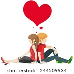 faceless couple on a white... | Shutterstock .eps vector #244509934