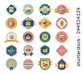 building badge flat design... | Shutterstock .eps vector #244524124