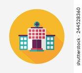 building hospital flat icon... | Shutterstock .eps vector #244528360