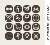 set of simple icons for sport ... | Shutterstock .eps vector #244534234