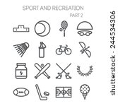 set of simple icons for sport ... | Shutterstock .eps vector #244534306