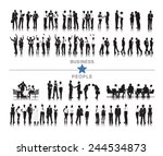silhouettes of business people... | Shutterstock .eps vector #244534873