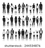 silhouettes group of people in... | Shutterstock .eps vector #244534876
