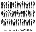 silhouettes group of people in... | Shutterstock .eps vector #244534894