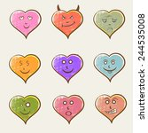 colorful set of different... | Shutterstock .eps vector #244535008