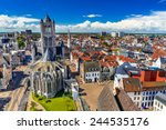 Skyline Of Gent  Ghent In West...