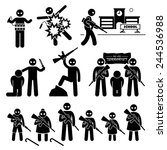 terrorist terrorism suicide...   Shutterstock .eps vector #244536988