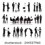 vector of multi ethnic business ... | Shutterstock .eps vector #244537960