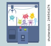 claw crane game machine | Shutterstock .eps vector #244541674
