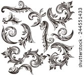 vector set of swirl elements... | Shutterstock .eps vector #244551433