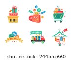 sale tags. big sale  buy now ... | Shutterstock .eps vector #244555660