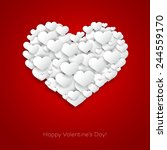 vector valentines card with... | Shutterstock .eps vector #244559170