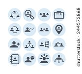 set of simple icons for... | Shutterstock .eps vector #244572868