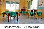 kindergarten with green chairs... | Shutterstock . vector #244574806