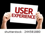 user experience card isolated...