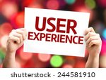 user experience card with...