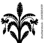 tropical silhouette. banana... | Shutterstock .eps vector #244585459