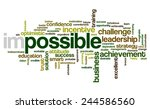 word cloud related to... | Shutterstock .eps vector #244586560