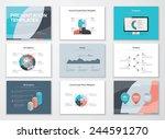 business presentation templates ... | Shutterstock .eps vector #244591270