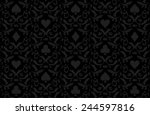 luxury black poker background... | Shutterstock .eps vector #244597816