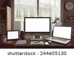 3d rendering of  workspace | Shutterstock . vector #244605130