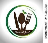 food design over white... | Shutterstock .eps vector #244608850