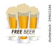 beer design over white... | Shutterstock .eps vector #244611166