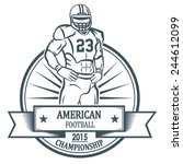 American Football Player. For...