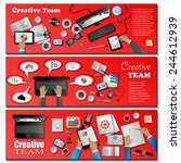 creative team flyer template... | Shutterstock .eps vector #244612939