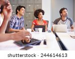 designers meeting to discuss... | Shutterstock . vector #244614613