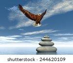 Eagle Landing Upon Balanced...
