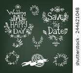 graphic hand drawn set  letters ... | Shutterstock .eps vector #244621048