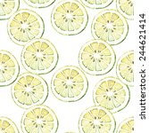 watercolor vector pattern with... | Shutterstock .eps vector #244621414