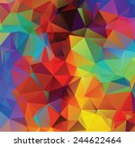 abstract multicolor geometric... | Shutterstock .eps vector #244622464