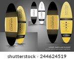 elliptical mini business card ...   Shutterstock .eps vector #244624519