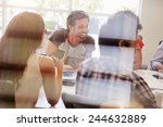 designers having meeting viewed ... | Shutterstock . vector #244632889