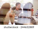 designers having meeting viewed ... | Shutterstock . vector #244632889