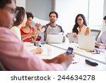 designers meeting to discuss...   Shutterstock . vector #244634278