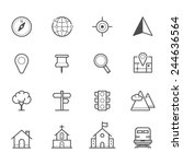 map icons and location icons | Shutterstock .eps vector #244636564