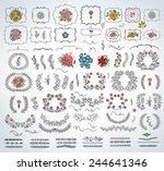 beautiful mega calligraphy set... | Shutterstock .eps vector #244641346