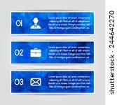 modern blue triangular style... | Shutterstock .eps vector #244642270