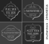 set of vintage signs and labels. | Shutterstock .eps vector #244648516