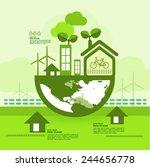 go green together   Shutterstock .eps vector #244656778