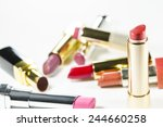 glamour beautiful lipsticks... | Shutterstock . vector #244660258