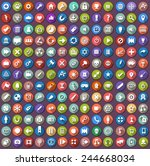 flat icons set. | Shutterstock .eps vector #244668034